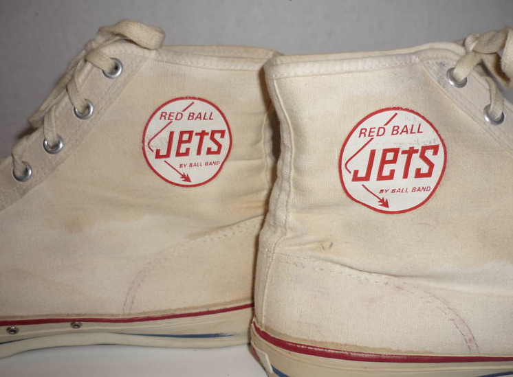 3e22863883b9 Red Ball Jets were tennis shoes of the 1950s. The smell of canvas and  rubber coming out of the box was almost intoxicating. They had a small  rubber tag on ...
