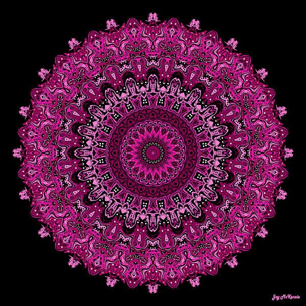 """Pink Passion No. 7 Mandala, by Joy McKenzie, prints available on Fine Art America in sizes up to 40"""" x 40"""""""