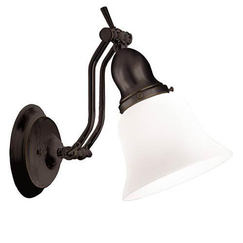 Photo of Hudson Valley 341-OB adjustable A light bathroom lamp made of old bronze, transition | Bellacor