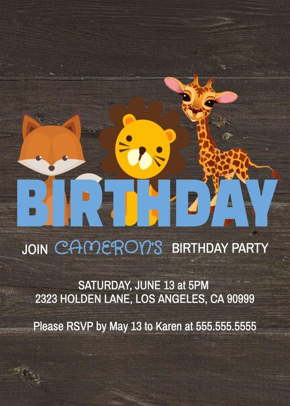 Woodland Birthday Party Invitation Template