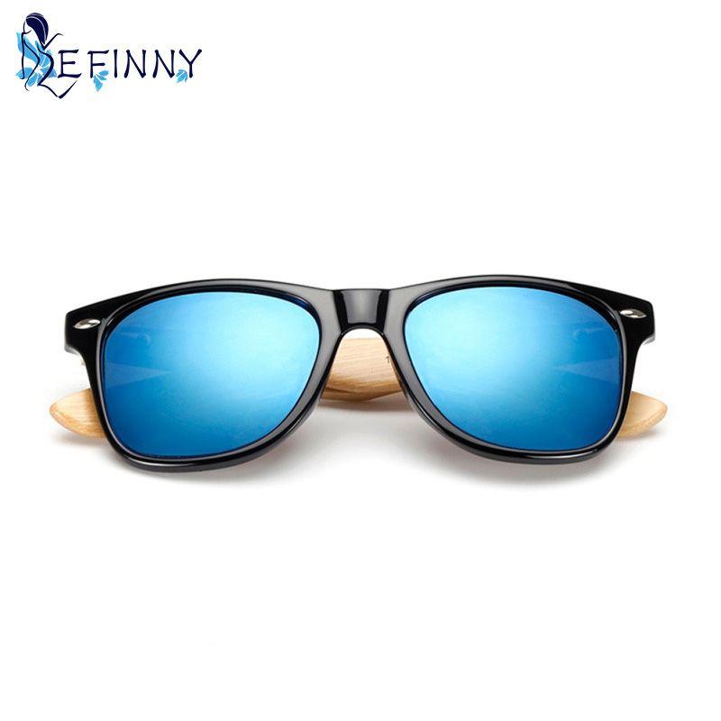 Summer UV400 Protection Wood Bamboo Frame Sunglasses Women Men Glasses Eyewear