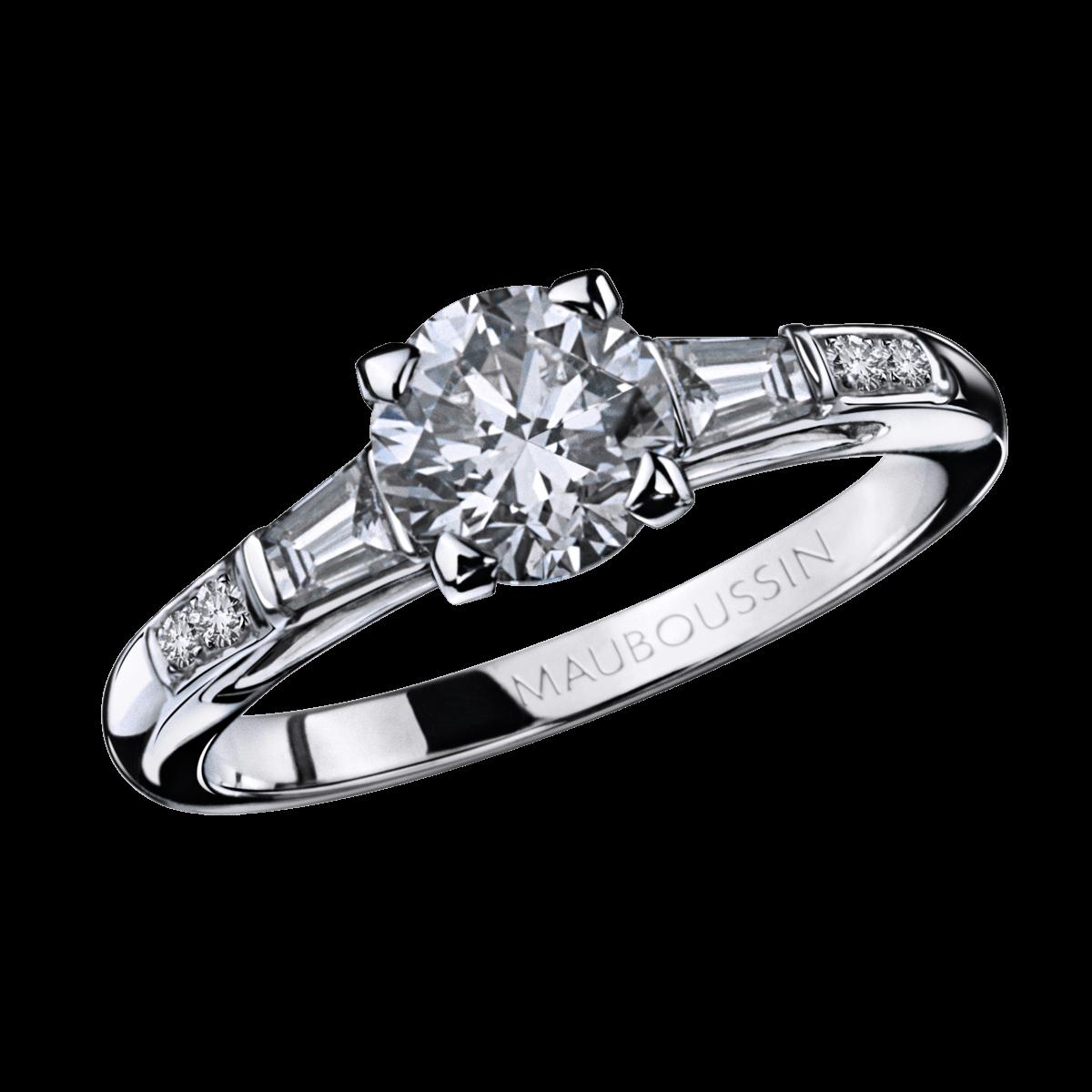 Bien-aimé bijoux luxe femme mauboussin,bague mauboussin coeur diamants  TD53