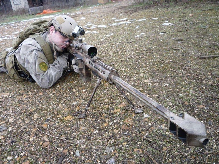 Barrett M82A1 airsoft replica with A-TACS paintjob
