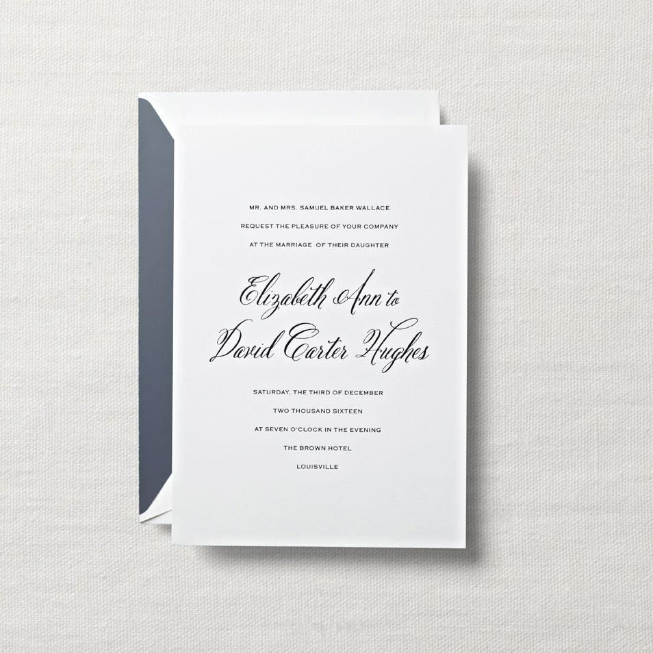 Letterpress Top Hats In The Great Room Invitation Lets Dress To - Engraved wedding invitations