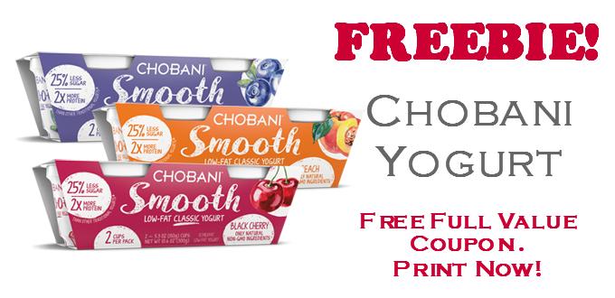 Free Chobani Greek Yogurt Full Value Coupon Chobani Greek