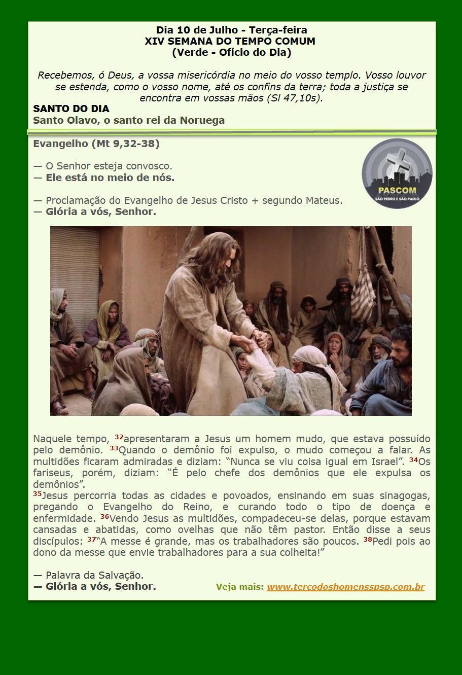 Pin De Paroquia Sao Pedro E Sao Paulo Em Evangelho Do Dia Santo