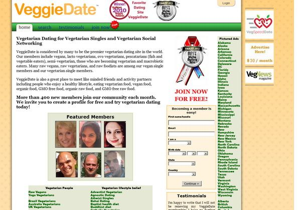 Vegetarian dating website