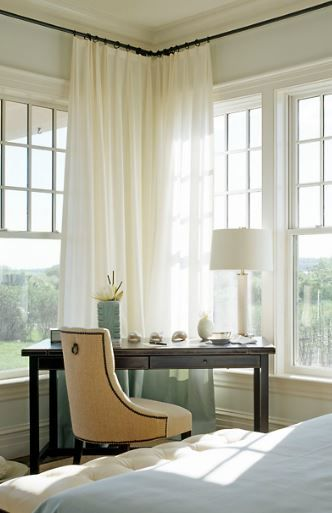 Corner Window Solutions In 2020 Bedroom Corner Window Curtains