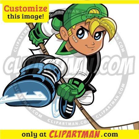 Hockey Player Clipart Cartoon Clipartman Com Hockey Posters Hockey Players Cartoon