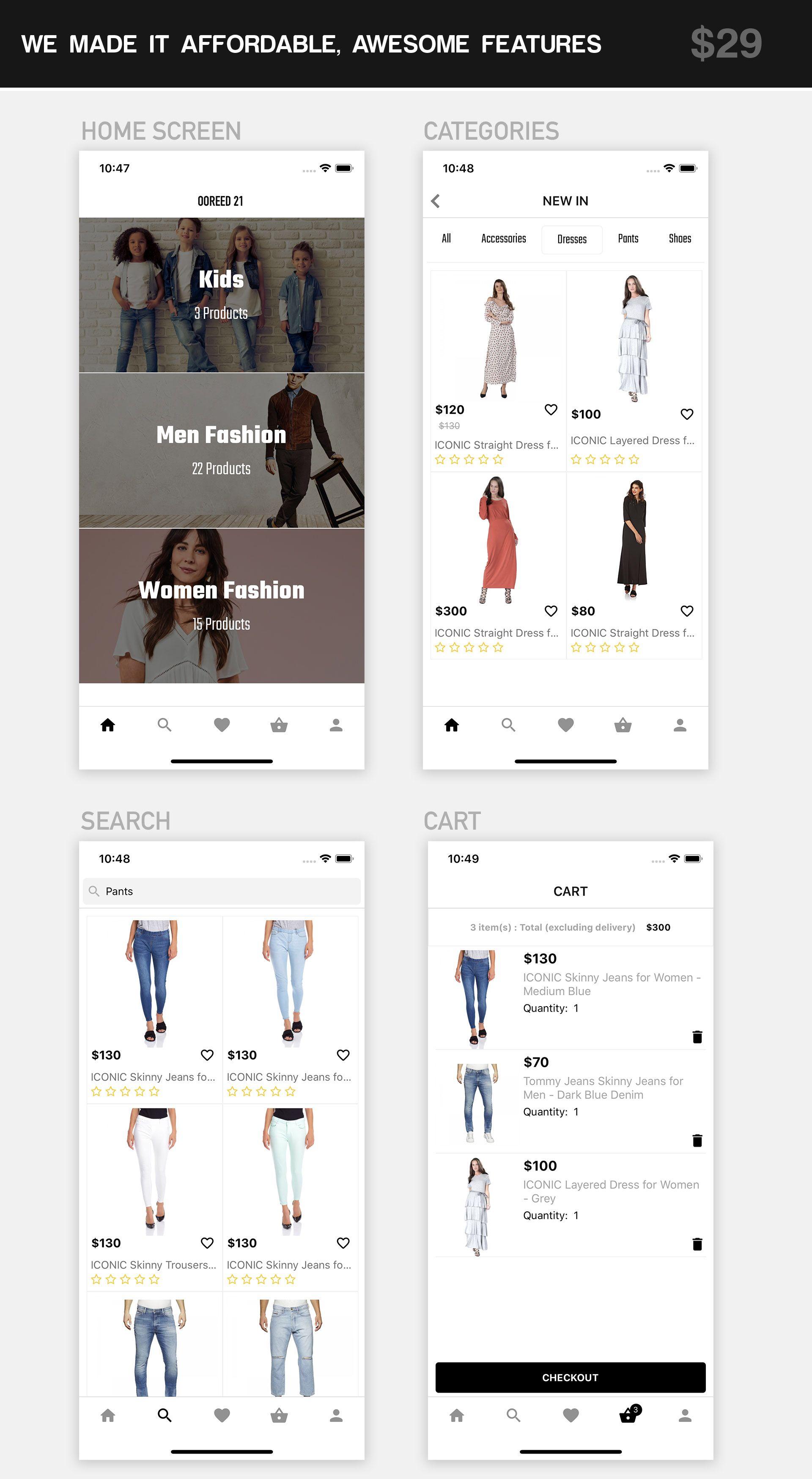 React Native Fashion eCommerce App (WooCommerce + WordPress) | Woo