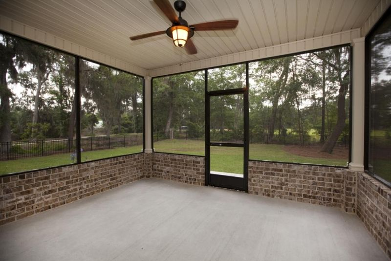 Back Porch With Brick Porch Design Screened Porch Designs House With Porch