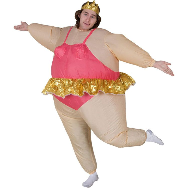 Purim Christmas Party Inflatable Ballerina Costume Airn Fancy Dress Fat Suit Stag Hen Night Outfit