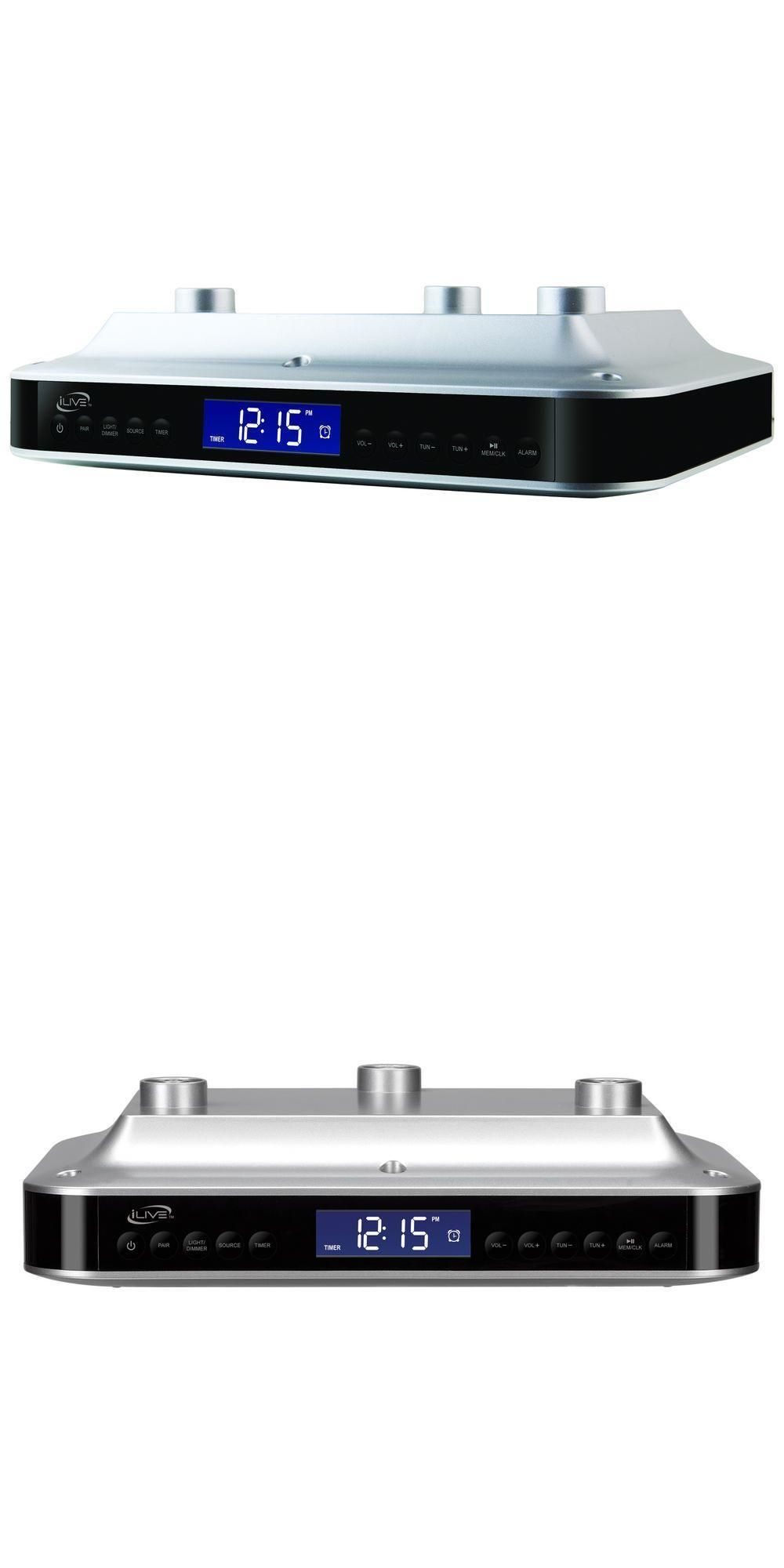 Radio Tuners: Bluetooth Under Cabinet Music System Sounds Audio ...