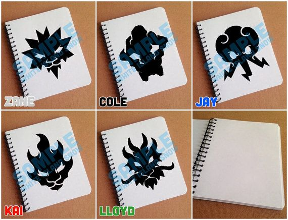 Items Similar To LEGO Ninjago 2017 Elemental Symbol Designs   Choose  Notebook/Journal, Sketchbook, Or Hairbrush, And Ninja On Etsy
