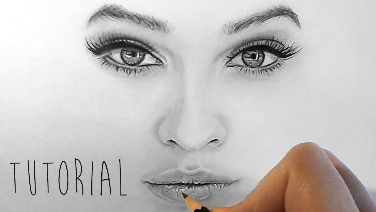 Tutorial  How To Shade And Draw Realistic Eyes, Nose And Lips With  Graphite Pencils