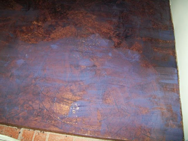 Installing A Paper Bag Floor Using Rit Dye Paper Bag