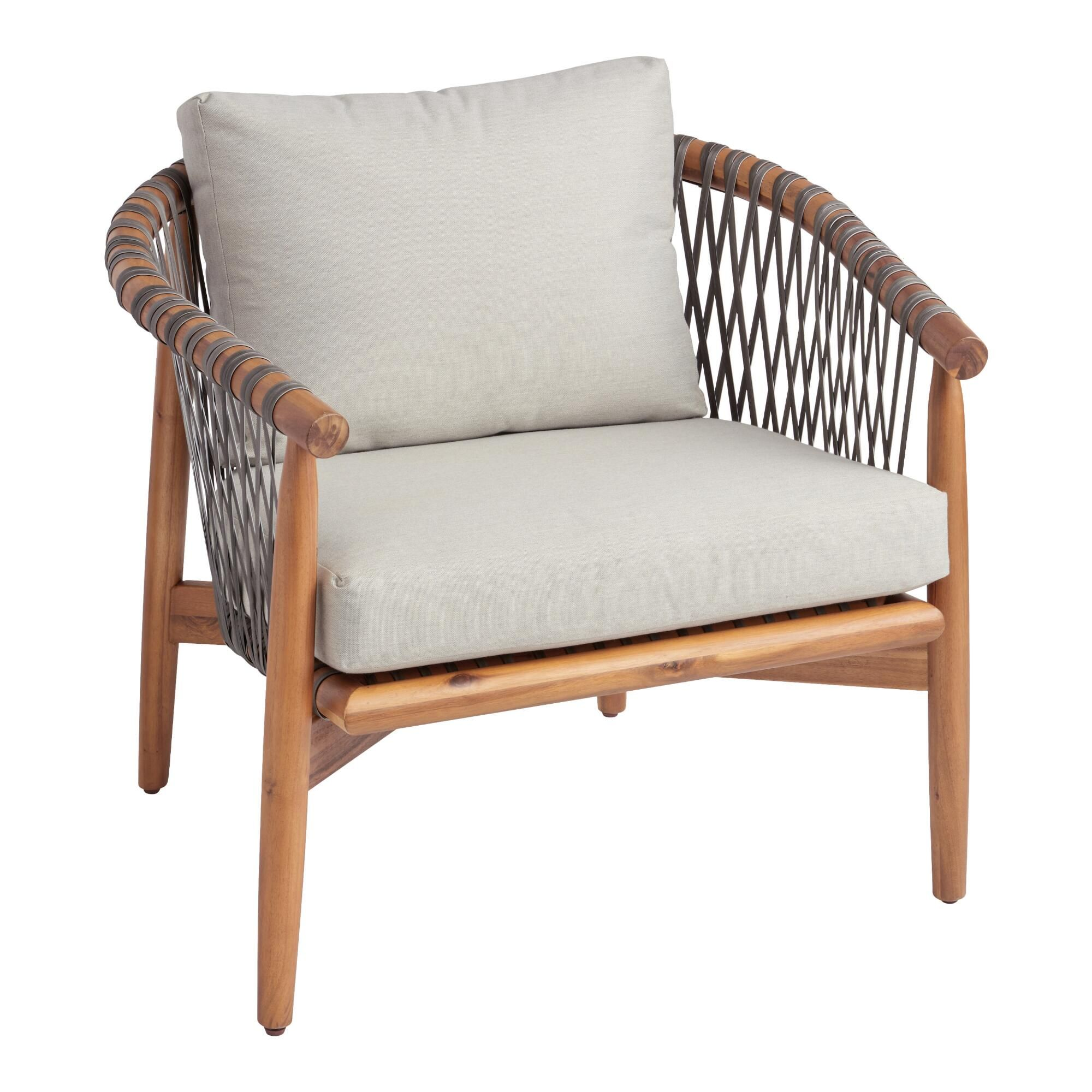All Weather Wicker And Acacia Vance Outdoor Chair In 2021 Outdoor Chairs Patio Chairs Outdoor Wicker Chairs