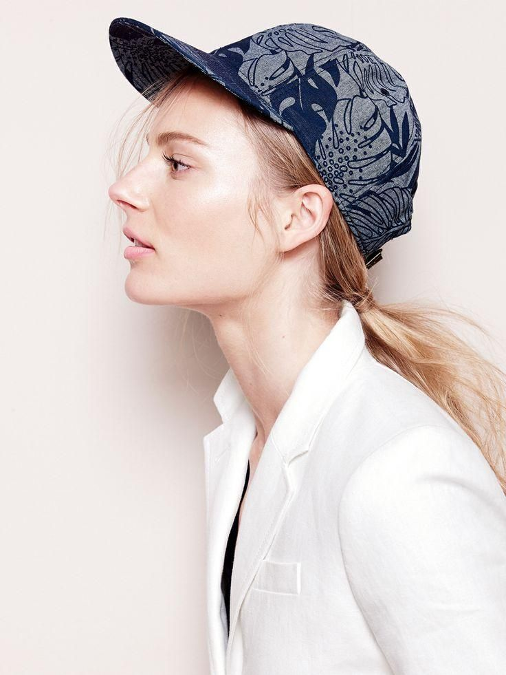 c4a90cdd78250 MAY  14 Style Guide  J.Crew baseball cap in printed chambray and Schoolboy  blazer in linen.