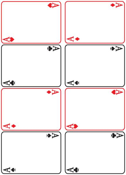 Blank Playing Card Template 3 Templates Example Templates Example Printable Playing Cards Blank Playing Cards Card Templates Printable