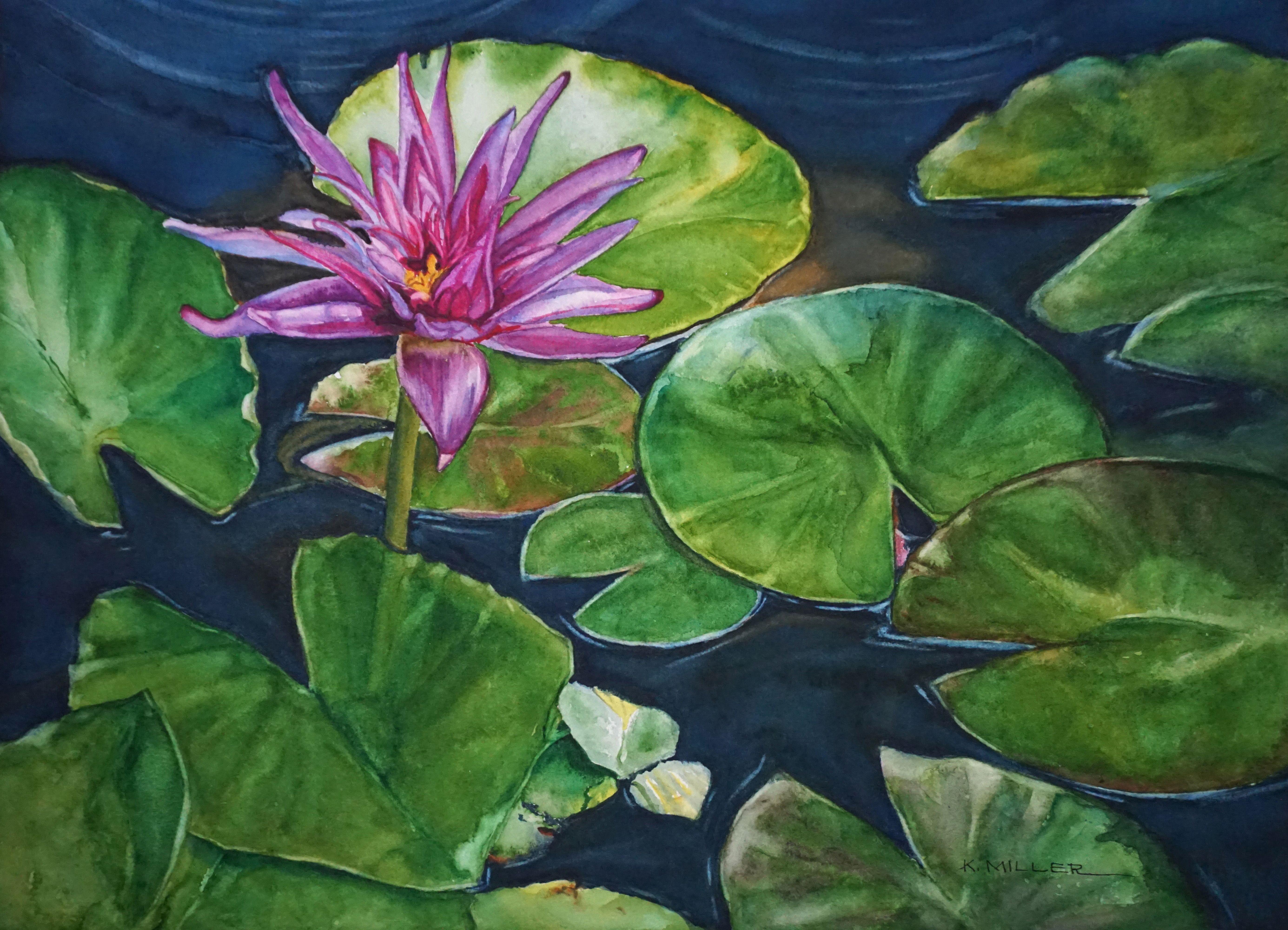 Purple lily k miller watercolors flower paintings pinterest purple lily izmirmasajfo