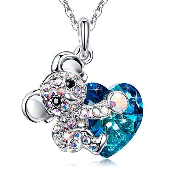 J./RENE/É Collier Femme Perle Bijoux Femme Perle de Swarovski Cadeau Femme Pendentif Femme