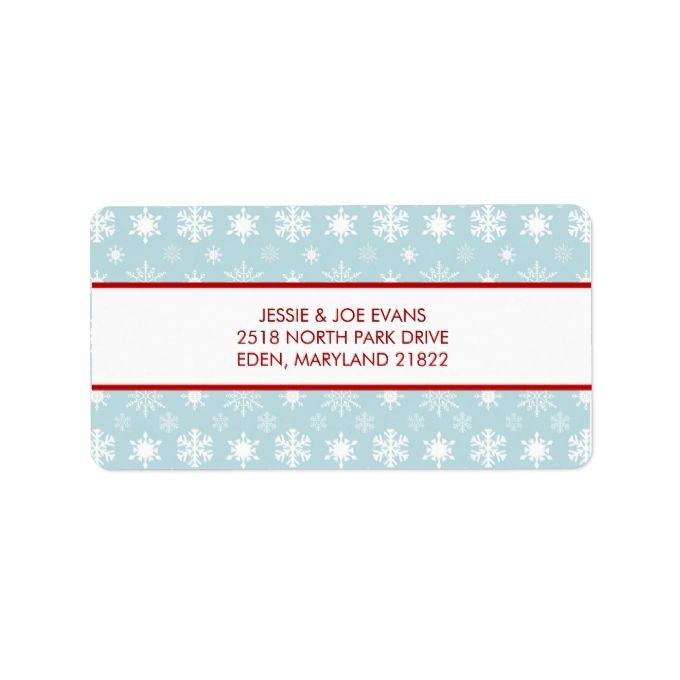 Christmas Card Mailing Address Labels And