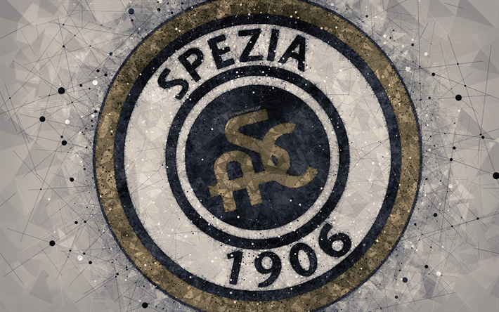 Download wallpapers Spezia Calcio, 4k, logo, geometric art, Serie B, gray  abstract background, creative art, emblem, Italian football club, Spezia,  Italy, footb… | Geometric art, Sports wallpapers, Geometric logo