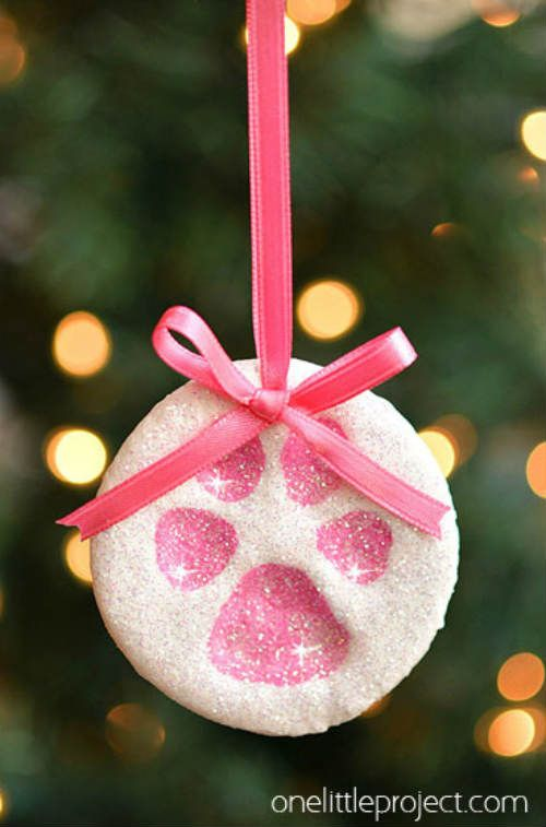 Salt Dough Ornaments-½ cup hot water ½ c salt 1 c flour Acrylic