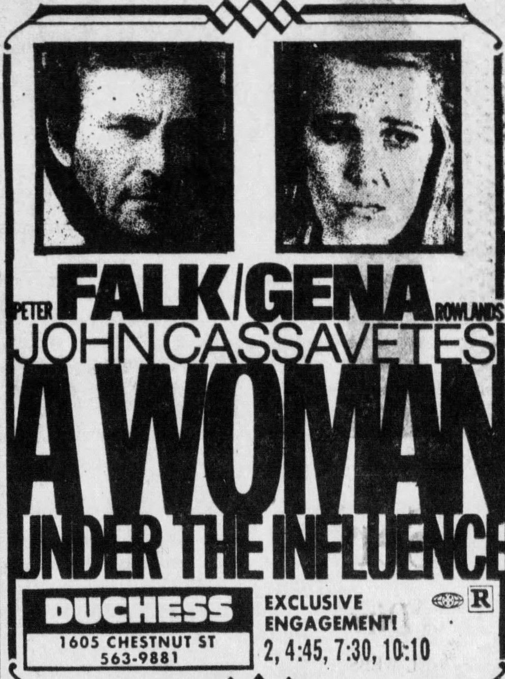 A Woman Under The Influence 1974 John Cassavetes Under The Influence Movie Prints