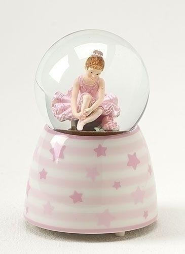 Globo di neve palla di neve musicale con ballerina rosa per bambini con musica de Il Lago dei Cigni