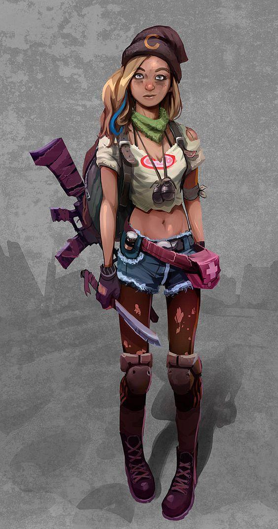 Soldier Apocalypse Character Post Apocalyptic Girl Character Design