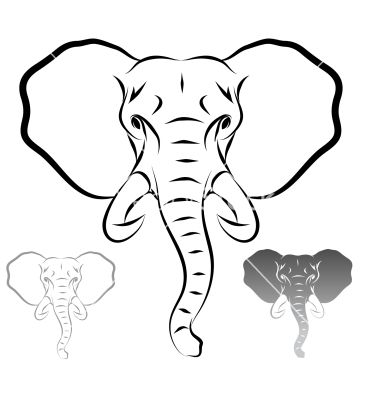 Stylized elephant head vector 1679715 - by marius_m on ...