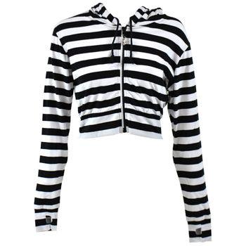 Stripe Cropped Hoodie