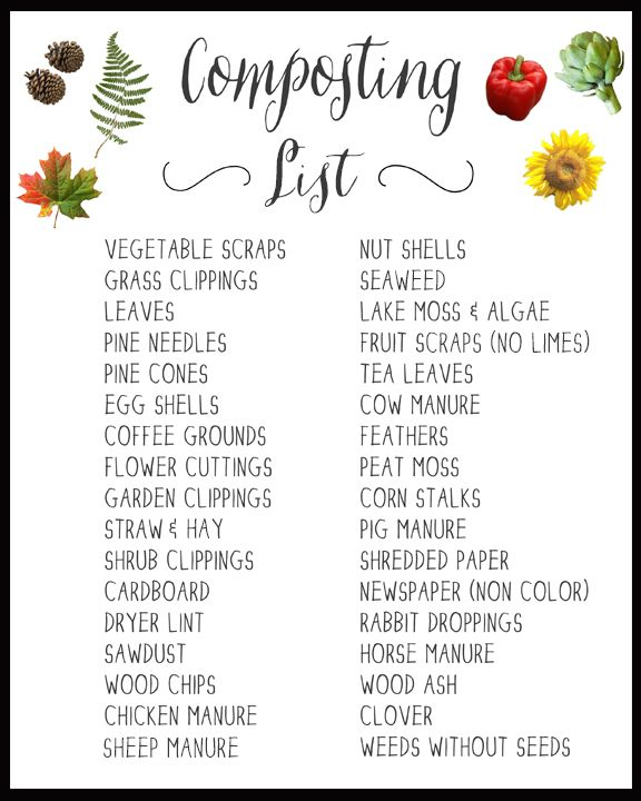 graphic regarding Printable Compost List called Pin upon Blogger Residence Jobs We Delight in