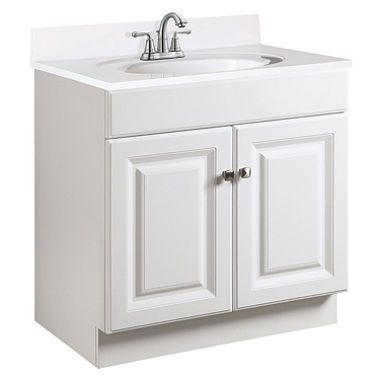 Design House Wyndham White Semi Gloss Vanity Cabinet Bathroom Vanity Base Vanity Cabinet Single Sink Vanity