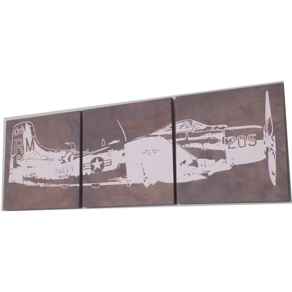 Vintage ww2 Airplane Transportation Art Airplane Propellor Screen... ($85) ❤ liked on Polyvore featuring home, home decor, wall art, black, home & living, home décor, ornaments & accents, black wall art, black panel and wood home decor