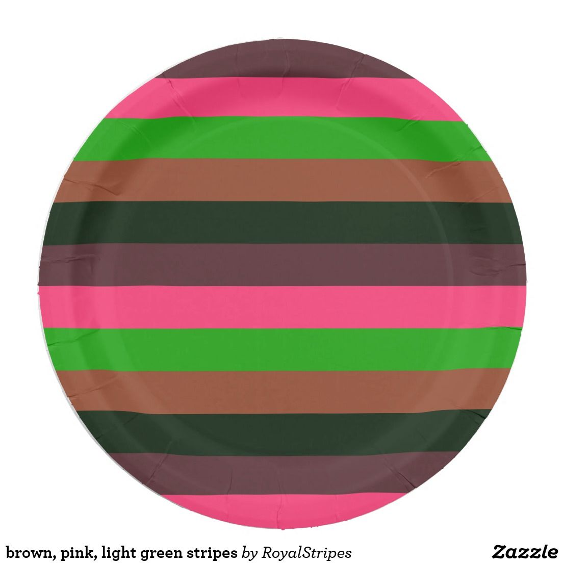 brown pink light green stripes paper plate  sc 1 st  Pinterest & Brown pink light green stripes paper plate | Green stripes