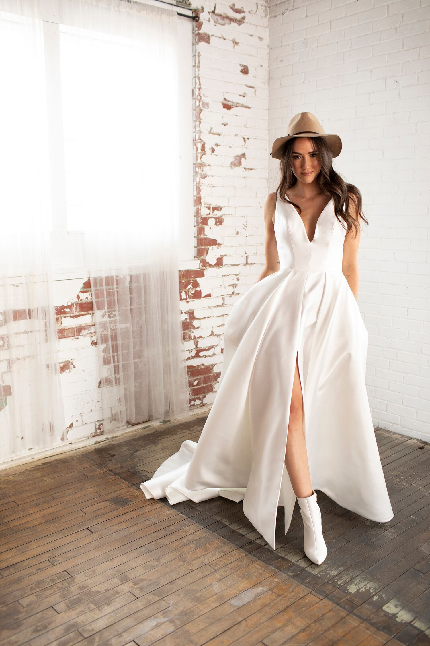 Maeve Sleek Wedding Dress By Barbara Kavchok Wedding Dress Boots White Wedding Boots Sleek Wedding Dress [ 2250 x 1500 Pixel ]