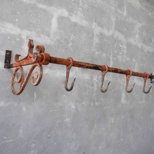 New Meat Hook - Late 19th Century Butchers Rack ...