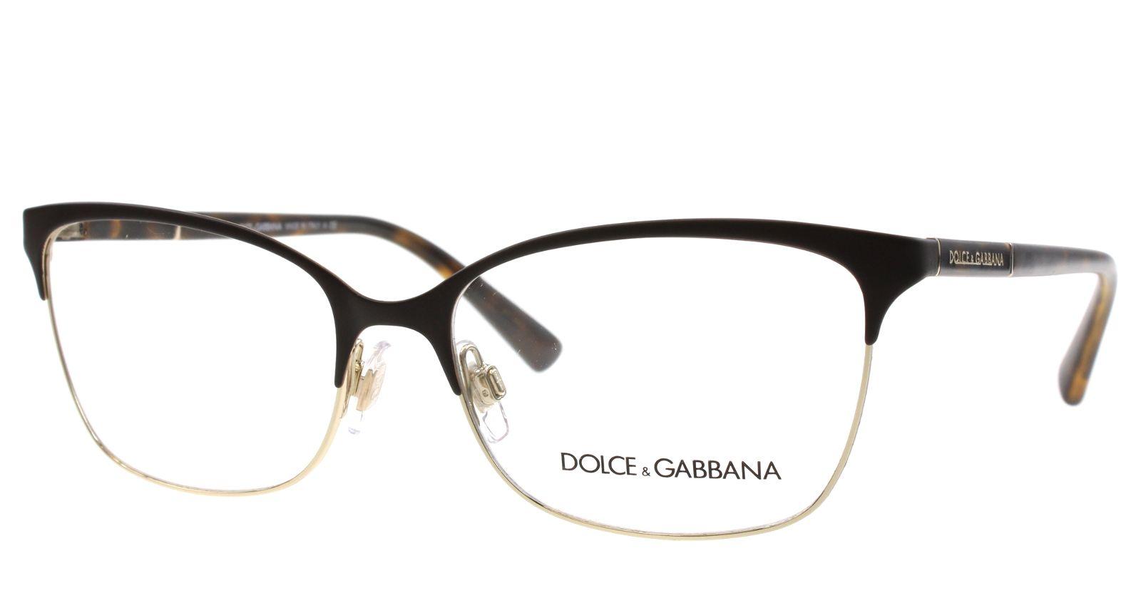 new dolce gabbana eyeglasses women cat eye dg 1268 havana 1254 - Dolce And Gabbana Eyeglass Frames