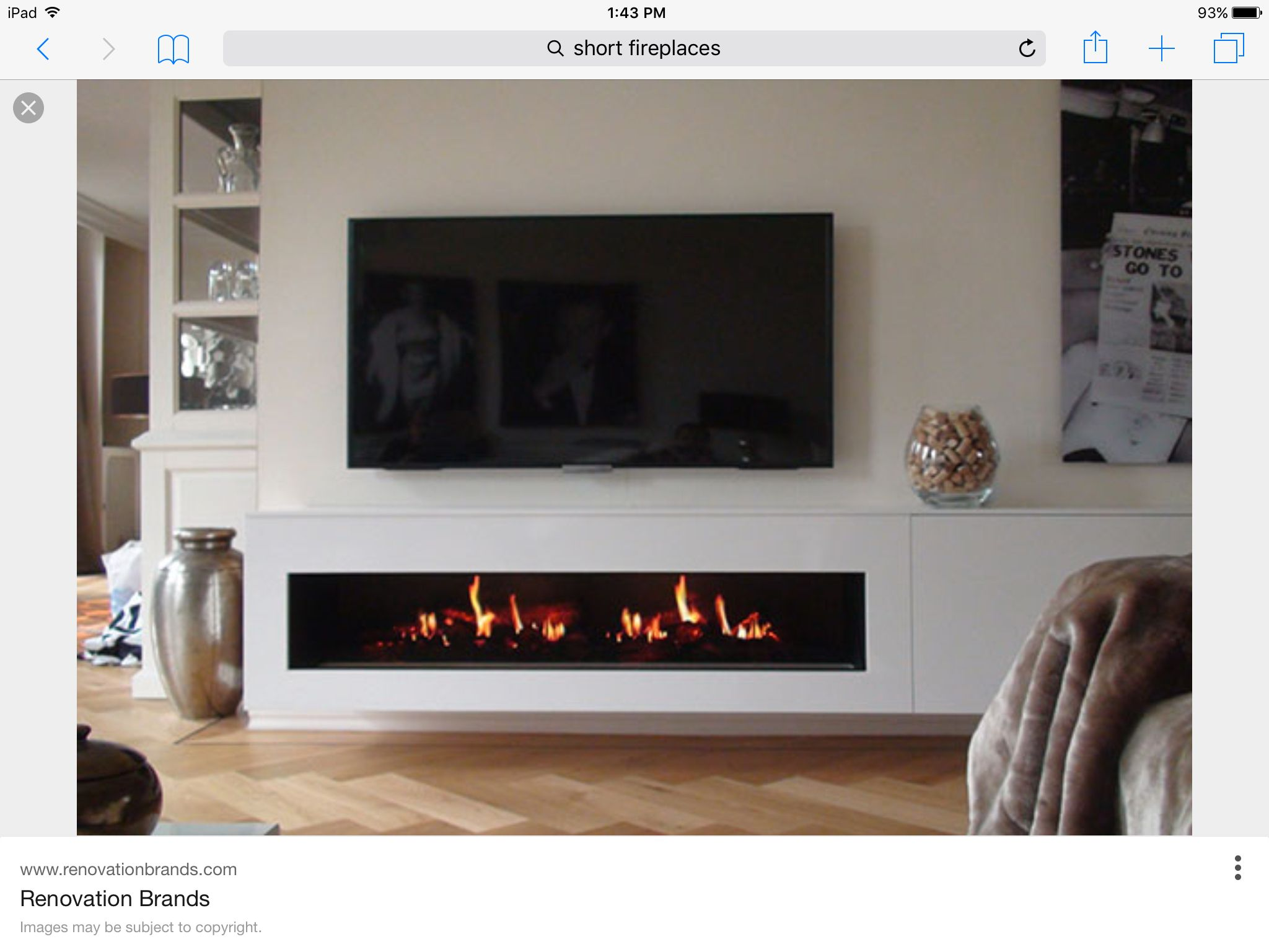 Low Fireplace With Tv Above Built In Electric Fireplace Linear