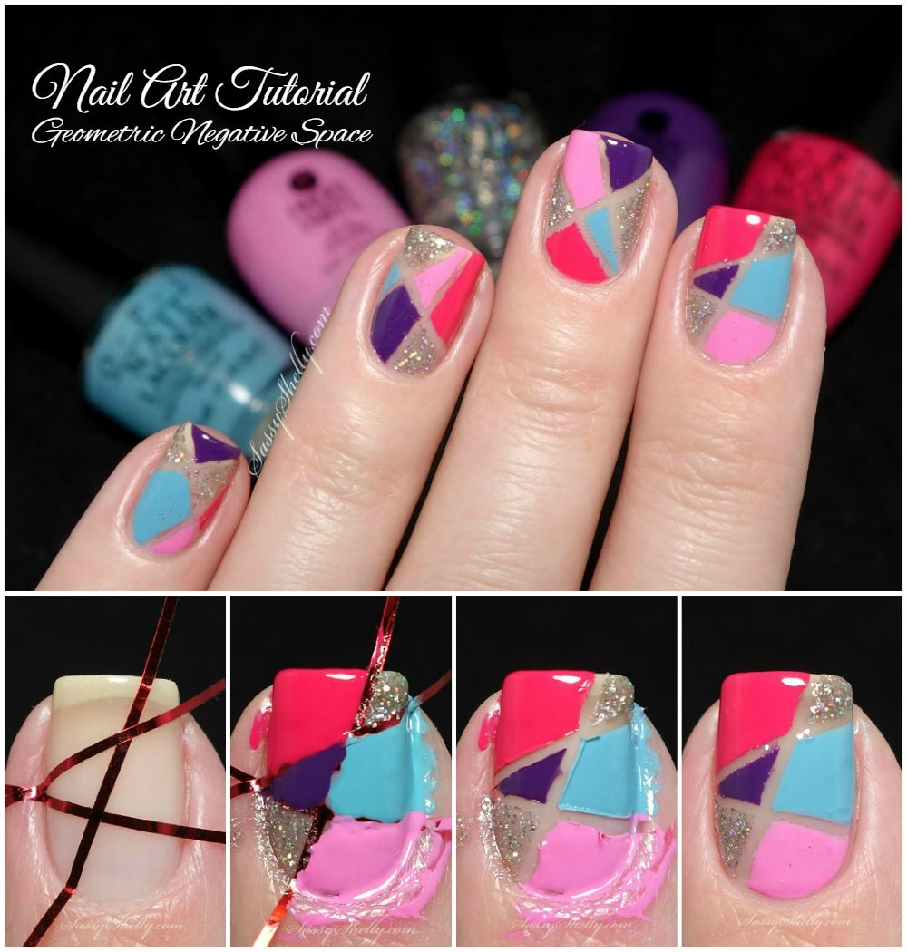 Easy nail art tutorial for beginners geometric negative space easy nail art tutorial for beginners geometric negative space striping tape manicure by sassy shelly baditri Gallery