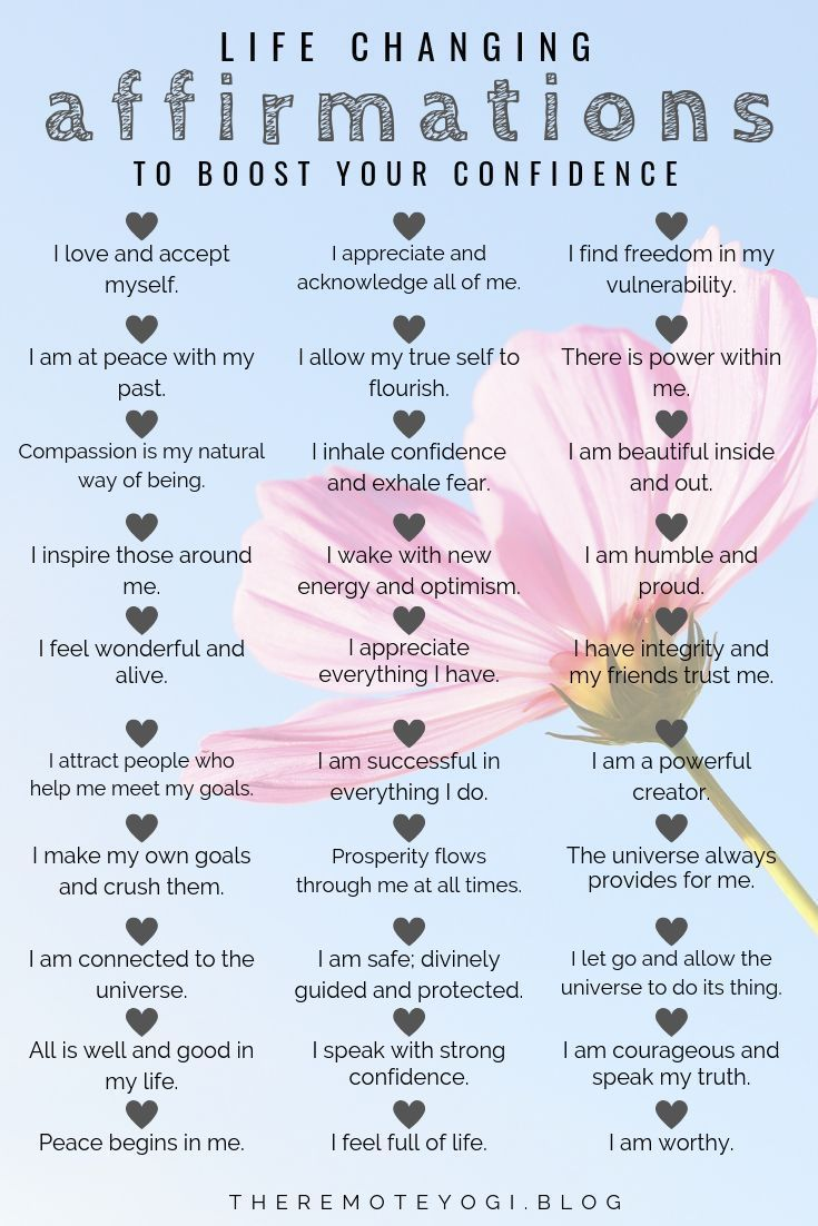 50 Affirmations to Boost Your Confidence  the remote yogi Selecting powerful words to shape our mindset create the path to change These 50 affirmations will boost your co...