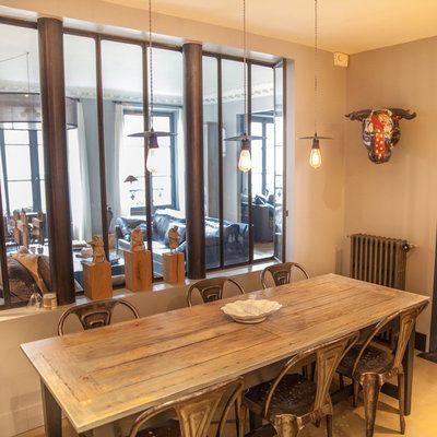 salle à manger - David Gaillard Inspiration maison Pinterest - table salle a manger loft