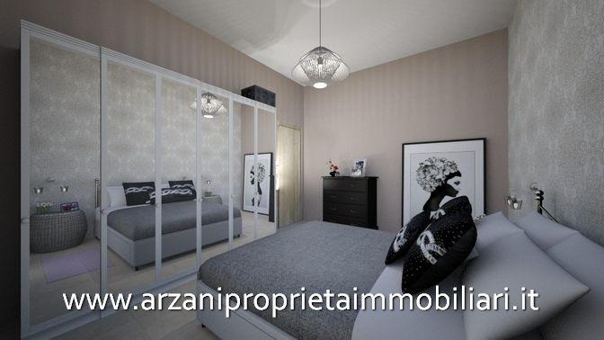 Camera Matrimoniale Di Un Appartamento In Vendita A Imperia Oneglia