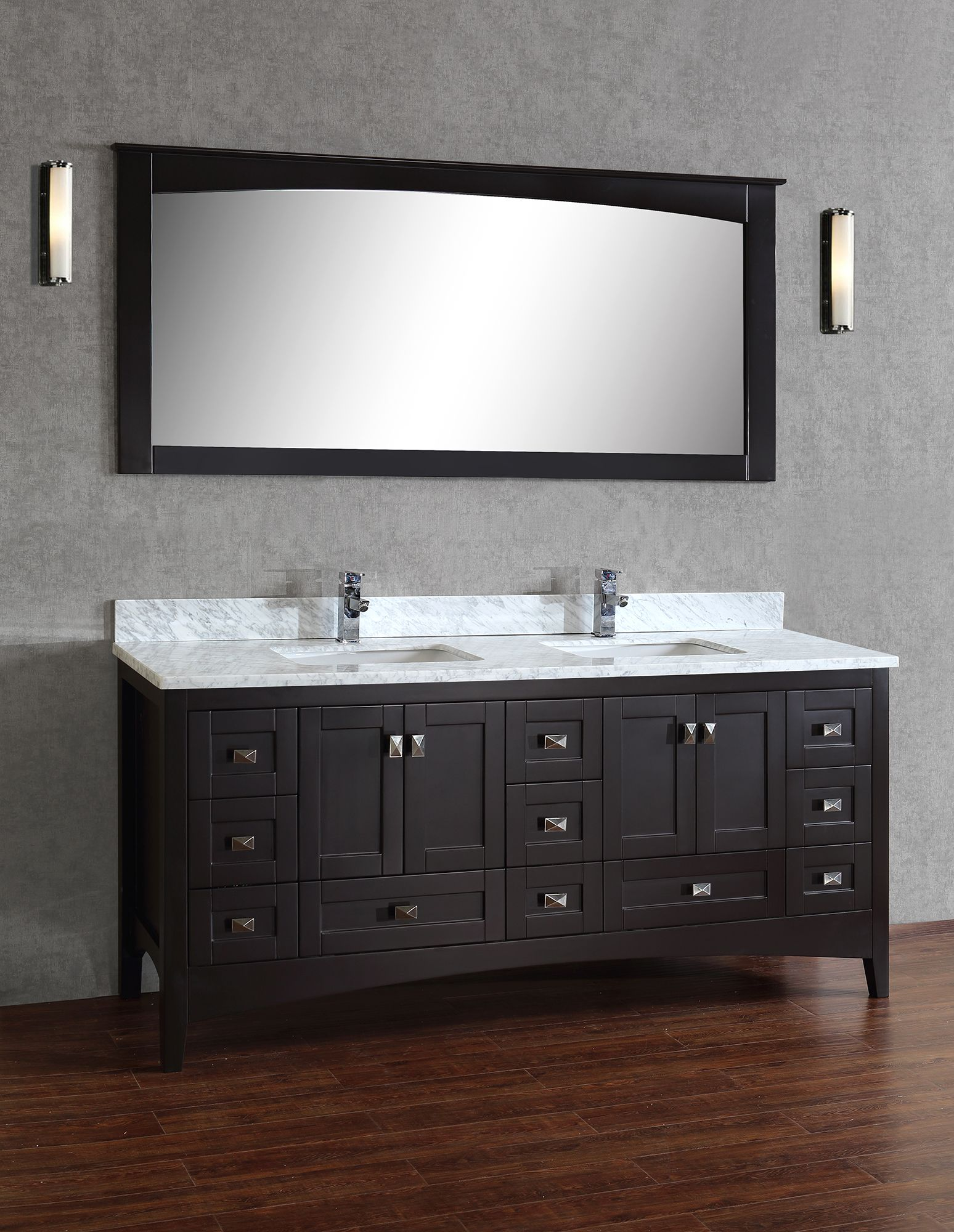 Accara 36 bathroom vanity with drawers espresso w - Yorkton 72 Bathroom Vanity Espresso Home Decor Store Toronto And Gta York Taps