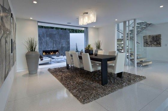 Comedor casa lujo hollywood hills los angeles california - Interiores casas de lujo ...