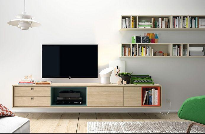 apilable de saln de diseo para tv moderno compuesto por un estructura baja colgado con 2 cajones 2 mdulos de puerta y huecos etc muebles salon - Muebles De Salon De Diseo
