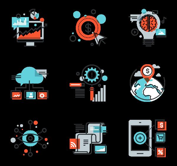 Digital Marketing Icon Pack Digital Marketing Design Marketing Icon Flat Design Icons