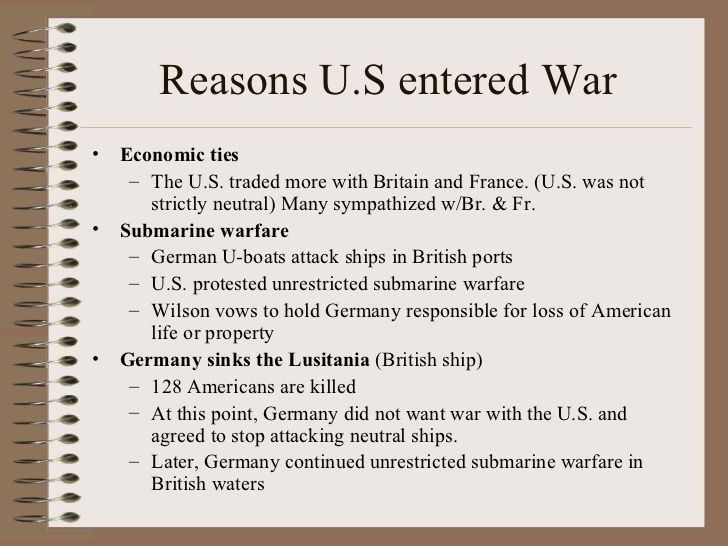 reasons to join ww1